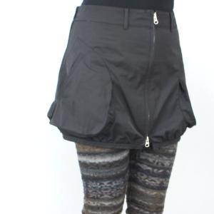 ファスナー付き黒カバースカート|femme|02