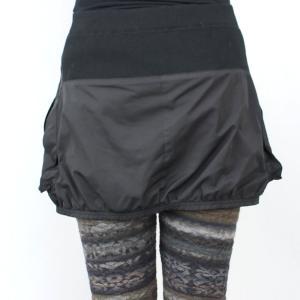 ファスナー付き黒カバースカート|femme|03