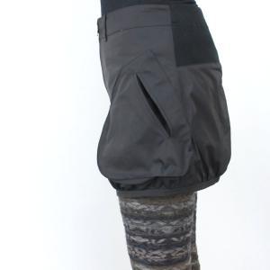 ファスナー付き黒カバースカート|femme|04