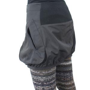 ファスナー付き黒カバースカート|femme|05