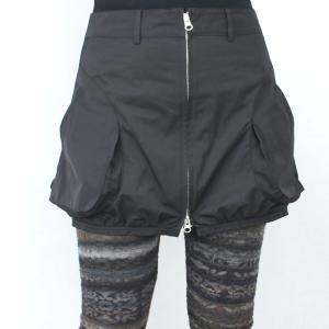 ファスナー付き黒カバースカート|femme|06