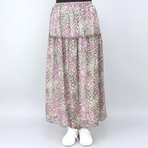 ピンク花柄スカート|femme