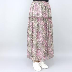 ピンク花柄スカート|femme|02