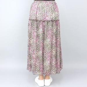 ピンク花柄スカート|femme|04