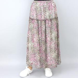 ピンク花柄スカート|femme|06