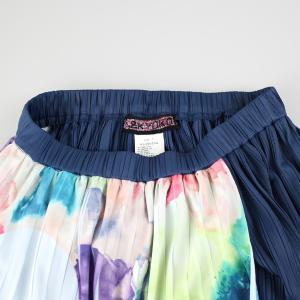 佐藤繊維 M&KYOKO 水彩プリント柄ラップ風プリーツスカート|femme|14