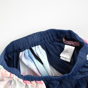 佐藤繊維 M&KYOKO 水彩プリント柄ラップ風プリーツスカート|femme|15