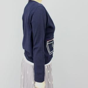 スーパーボイス 紺白ポケットカーディガン|femme|03