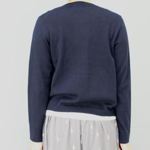 スーパーボイス 紺白ポケットカーディガン|femme|04