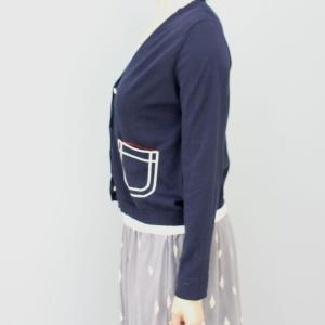 スーパーボイス 紺白ポケットカーディガン|femme|05