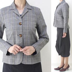 コテラック グレーチェックジャケット|femme