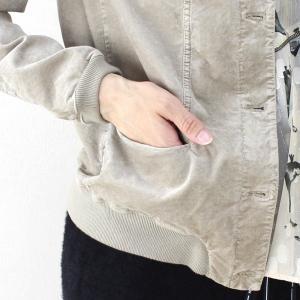 TANDEM ベージュベロアブルゾンジャケット|femme|15
