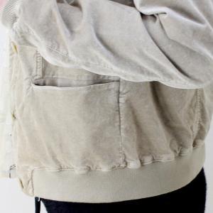 TANDEM ベージュベロアブルゾンジャケット|femme|17