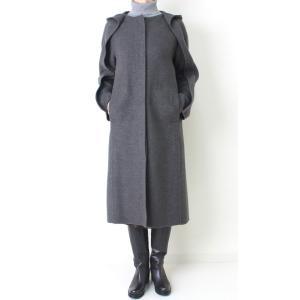 ヒロココシノ HIROKO KOSHINO グレーフード付きロングコート|femme|02