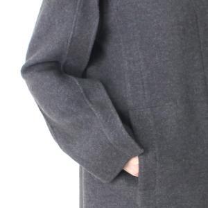 ヒロココシノ HIROKO KOSHINO グレーフード付きロングコート|femme|11