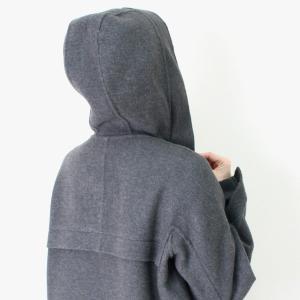 ヒロココシノ HIROKO KOSHINO グレーフード付きロングコート|femme|14
