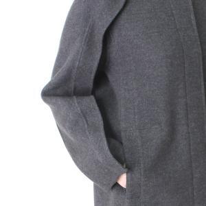 ヒロココシノ HIROKO KOSHINO グレーフード付きロングコート|femme|17