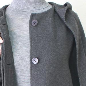 ヒロココシノ HIROKO KOSHINO グレーフード付きロングコート|femme|18