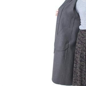 ヒロココシノ HIROKO KOSHINO グレーフード付きロングコート|femme|19