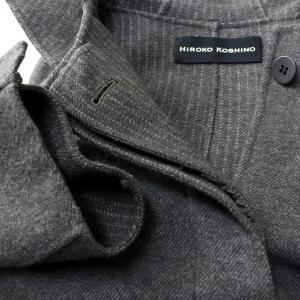 ヒロココシノ HIROKO KOSHINO グレーフード付きロングコート|femme|20