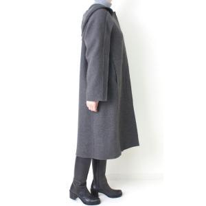 ヒロココシノ HIROKO KOSHINO グレーフード付きロングコート|femme|03
