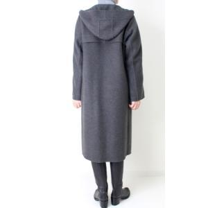 ヒロココシノ HIROKO KOSHINO グレーフード付きロングコート|femme|04