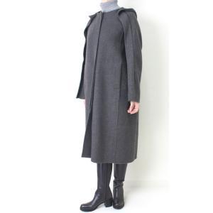 ヒロココシノ HIROKO KOSHINO グレーフード付きロングコート|femme|05