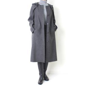 ヒロココシノ HIROKO KOSHINO グレーフード付きロングコート|femme|06