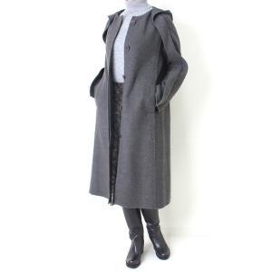 ヒロココシノ HIROKO KOSHINO グレーフード付きロングコート|femme|07