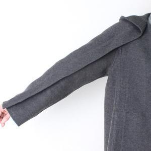ヒロココシノ HIROKO KOSHINO グレーフード付きロングコート|femme|09
