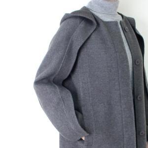 ヒロココシノ HIROKO KOSHINO グレーフード付きロングコート|femme|10