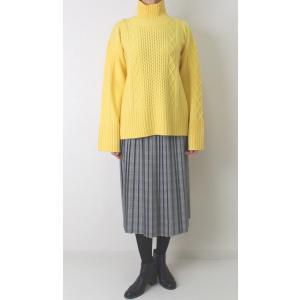 Apaiser lame(アぺゼラム)アラン編み柄ベルスリーブタートルセーター|femme|21