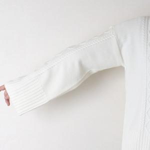 Apaiser lame(アぺゼラム)アラン編み柄ベルスリーブタートルセーター|femme|10