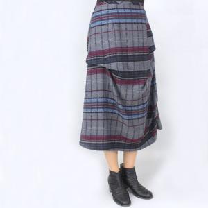 センソユニコ i+mu グレーチェック柄デザインスカート|femme|02
