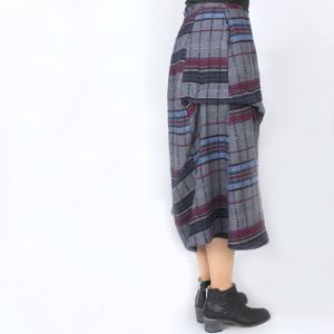 センソユニコ i+mu グレーチェック柄デザインスカート|femme|03