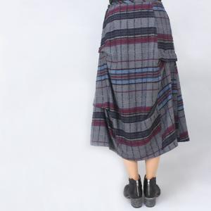 センソユニコ i+mu グレーチェック柄デザインスカート|femme|04