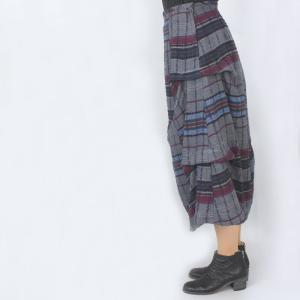 センソユニコ i+mu グレーチェック柄デザインスカート|femme|05