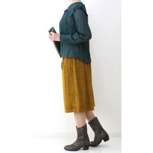 コテラック マスタードコーデュロイスカート|femme|09