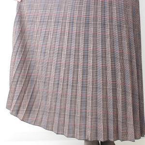 茶チェックプリーツマキシスカート|femme|11