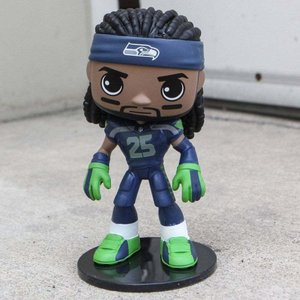 NFL フィギュア ボブルヘッド wobblers nfl seattle seahawks richard sherman bobble head navy|fermart-hobby