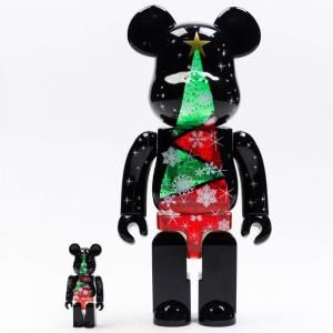 ベアブリック Bearbrick フィギュア 2017 christmas stained glass tree 100% 400% bearbrick figure set black fermart-hobby