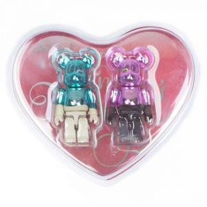 ベアブリック Bearbrick フィギュア 2018 valentine bearbrick 2 figure set teal/pink fermart-hobby