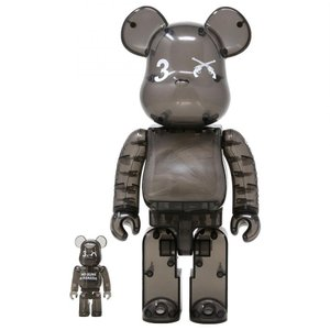 ベアブリック Bearbrick フィギュア 3.paradis x roarguns 100% 400% bearbrick figure set black fermart-hobby