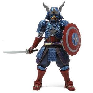 マーベル Marvel フィギュア meisho manga realization marvel samurai captain america figure blue|fermart-hobby