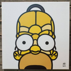 BAIT おもちゃグッズ Toys and Collectibles BAIT x David Flores 36 Inch Canvas - Homer 3/4|fermart-hobby