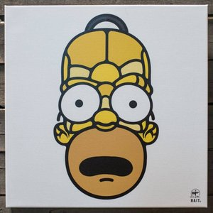 BAIT おもちゃグッズ Toys and Collectibles BAIT x David Flores 48 Inch Canvas - Homer Full Head|fermart-hobby