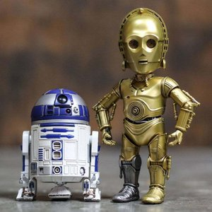 スターウォーズ Herocross Hybrid Metal Figuration #024 Star Wars R2-D2 And C-3PO Diecast Figure Set|fermart-hobby