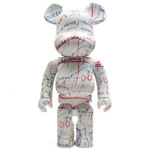 ベアブリック Bearbrick フィギュア jean-michel basquiat #2 1000% bearbrick figure white/red fermart-hobby