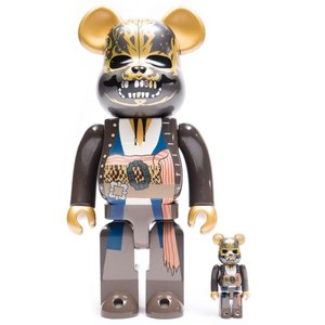ベアブリック Bearbrick フィギュア jack sparrow pirates of the caribbean dead men tell no tales version 100% 400% bearbrick figure set brown|fermart-hobby