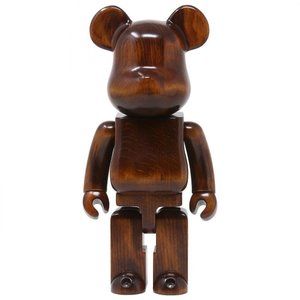 ベアブリック Bearbrick フィギュア karimoku modern furniture 400% bearbrick figure brown|fermart-hobby